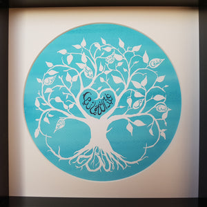 Personalised Arabic Couple's Tree of Love Print - Choose your wording and colours