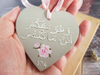 And He is with you wherever you are Islamic Calligraphy wooden heart in Arabic by Qalbi