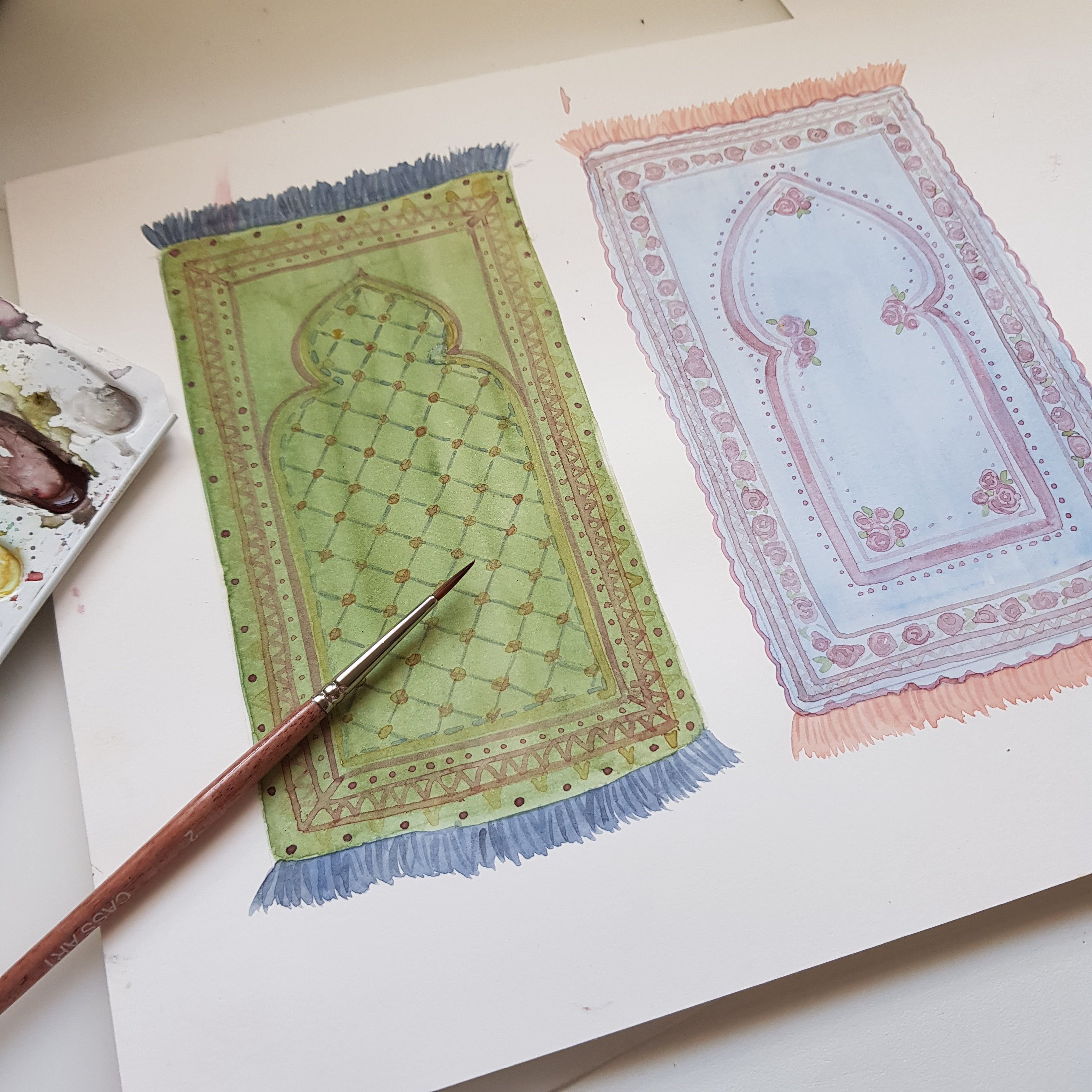 Personalised Muslim Prayer Mats Print - And We Created You in Pairs (78:8)