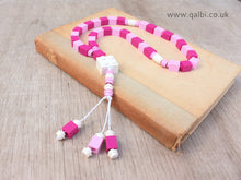Load image into Gallery viewer, Lego Tasbih Tasbeeh Islamic Prayer Beads for Muslim Kids in Pink and white