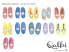 Personalised Arabic Moroccan Slippers Print by Qalbi