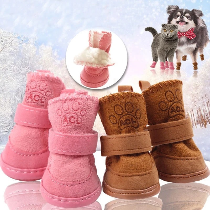 Pet Warm Winter Shoes