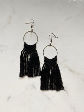 Boho Fringe Earrings--Neutrals