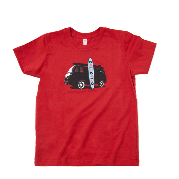 Kid's Surf Van T-Shirt (Red)