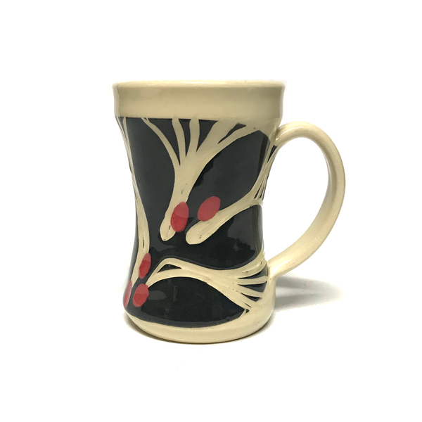 Coffee Cherries Handmade Ceramic Mug by Jean Wells