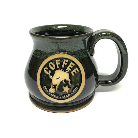 Strong Coffee Bull Potbelly Ceramic Mug