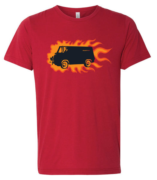 Flaming Surf Van T-Shirt