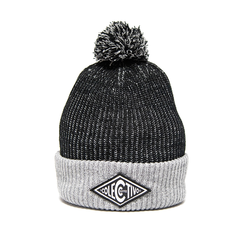 Colectivo Diamond Black Beanie With Pom