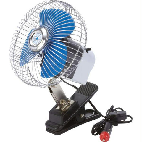"Picture of Maxam 6"" Auto Clip-on Fan- On Fan"