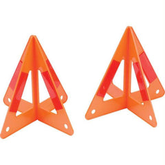 Maxam 2pc Set Of 3-d Roadside Hazard Triangles