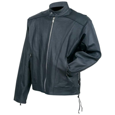 Picture of Rocky Mountain Hides Solid Genuine Cowhide Leather Cruiser Jacket- L