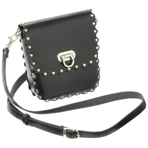 Picture of Diamond Plate Genuine Leather Biker Purse