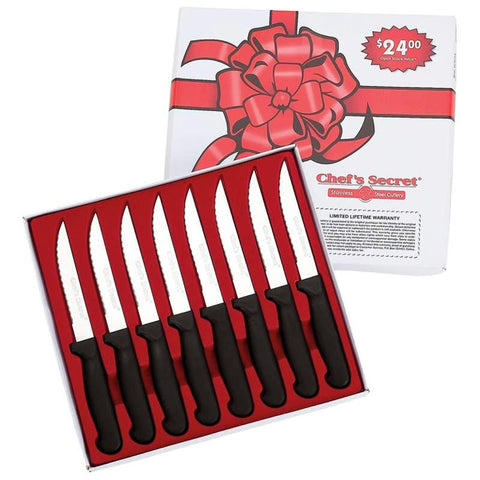 "Picture of Chefs Secret 8pc 8-1/2"" Steak Knife Set"