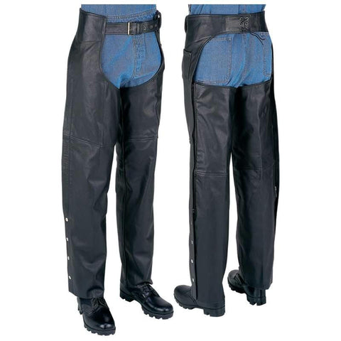 Picture of Rocky Mountain Hides Unisex Solid Genuine Buffalo Leather Chaps- L