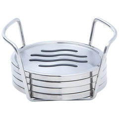 5pc Stainless Steel Coaster Set