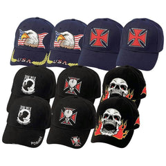 Diamond Plate 10pc Ball Cap Set With Embroidered Designs