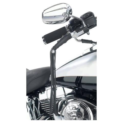 Picture of Diamond Plate Solid Genuine Leather Motorcycle Lever Covers