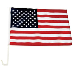 "10pc 18"" X 12"" United States Car Flag Set"