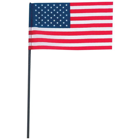 "Picture of 100pc 6"" X 4"" United States Flag With Pole Set"