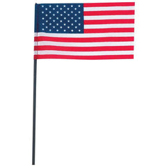 "100pc 6"" X 4"" United States Flag With Pole Set"