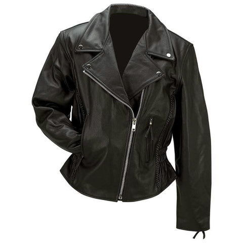 Picture of Rocky Mountain Hides Ladies Solid Genuine Buffalo Leather Jacket- M