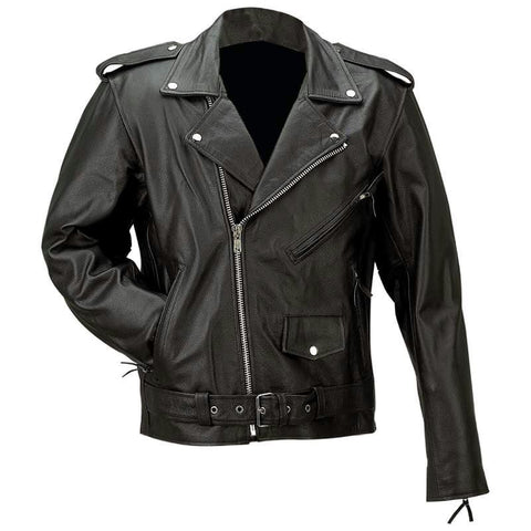 Picture of Rocky Mountain Hides Solid Genuine Buffalo Leather Jacket- L