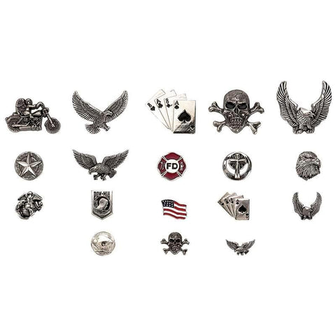 Picture of Diamond Plate 18pc Assorted Motorcycle Pin Set