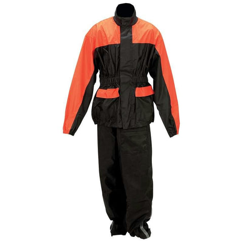 Picture of Diamond Plate Motorcycle Rain Suit- Xl