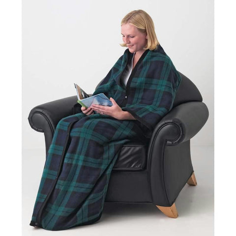 Picture of Maxam 10pc Fleece Poncho-style Snuggle Blanket Set