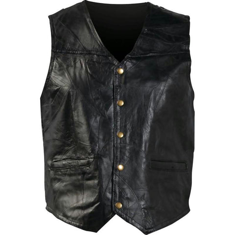Picture of Giovanni Navarre Italian Stone Design Genuine Leather Vest- 4x