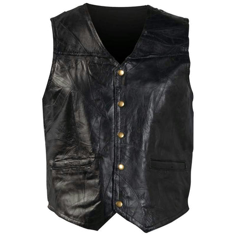 Picture of Giovanni Navarre Italian Stone Design Genuine Leather Vest- 7x