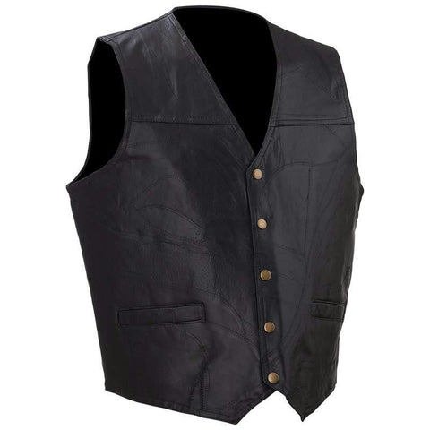 Picture of Diamond Plate Rock Design Genuine Leather Vest- L