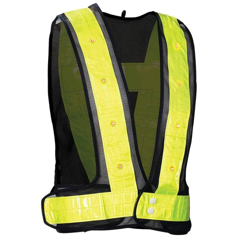 Picture of Diamond Plate Flashing Led Vest- (s/m)