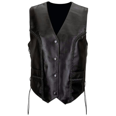 Picture of Diamond Plate Ladies' Solid Genuine Leather Vest- Xl