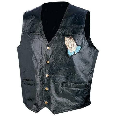 Picture of Giovanni Navarre Italian Stone Design Genuine Leather Vest- Xl