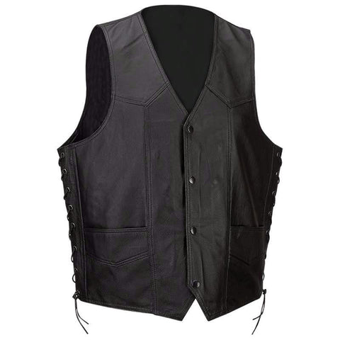 Picture of Diamond Plate Solid Genuine Leather Vest- M