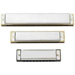 Maxam 3pc Harmonica Set