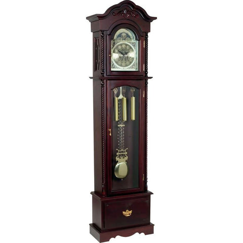 Picture of Edward Meyer Grandfather Clock With Beveled Glass- Cherry Fnh