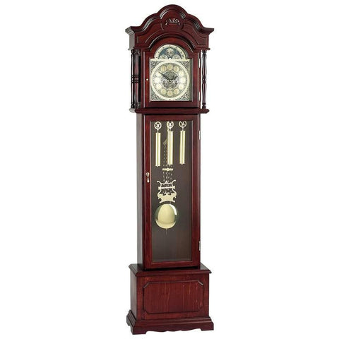 Picture of Edward Meyer Grandfather Clock With Beveled Glass- Walnut Fnh