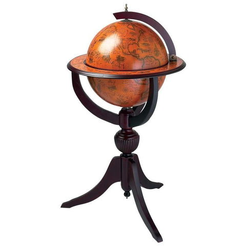 "Picture of Kassel 26"" Diameter Replica Of Italian Hand-painted Globe Bar"