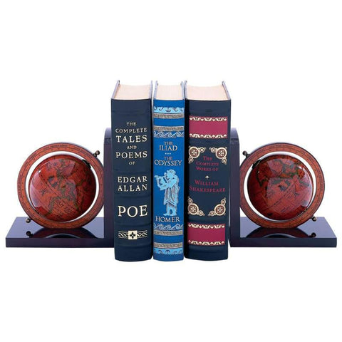 "Picture of Kassel 4-3/8"" (110mm) Diameter Globe Bookends"