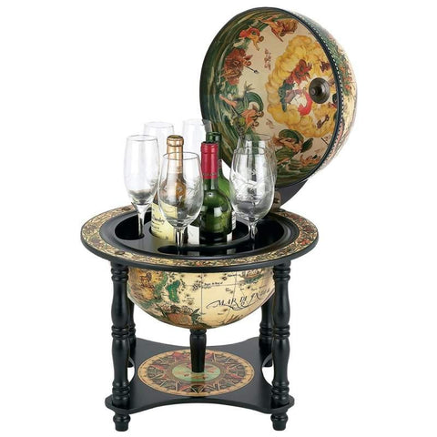 "Picture of Kassel 13"" Diameter Italian Replica Globe Bar"