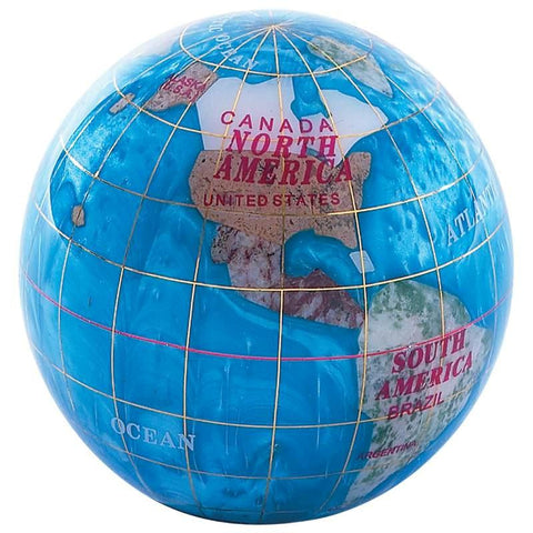 "Picture of Kassel 3-1/4"" (80mm) Diameter Decorative Globe Paper Weight"
