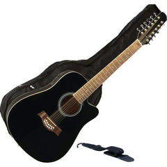 "Maxam 12-string 41"" Acoustic-electric Guitar"