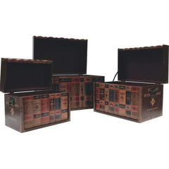 Kassel 3pc Decorative Storage Trunk Set