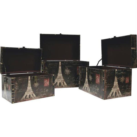 Picture of Kassel 3pc Decorative Storage Trunk Set