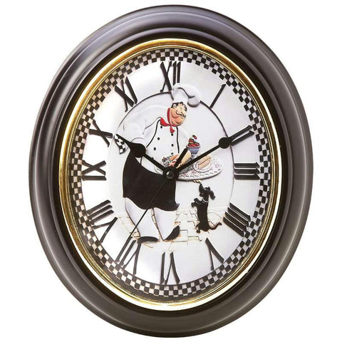 Picture of Brookwood Oval-shaped Baker Wall Clock- Baker