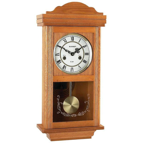 Picture of Kassel 15-day Oak Wall Clock- Day Oak Wood Wall Clock