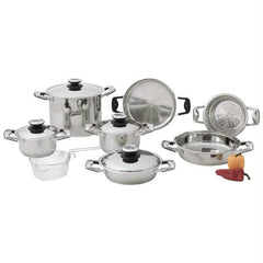 Chefs Secret 13pc Stainless Steel Cookware Set