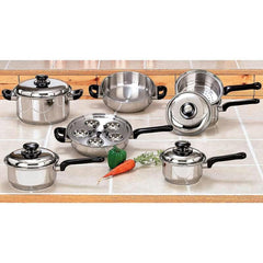 17pc Stainless Steel Cookware Set